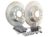 ES#2986648 - 1K0698601AHFKT1 - Performance Rear Brake Service Kit (272x10) - Featuring Hawk Sector 27 cross drilled and slotted rotors and Hawk HPS pads - Assembled By ECS - Volkswagen