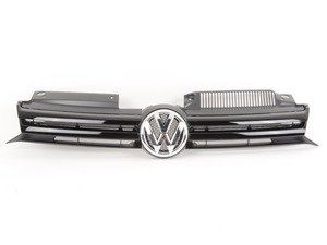 ES#2064725 - 5K0853651ALQWA - Front Grille - Low Line - Solid black grille. - Genuine Volkswagen Audi - Volkswagen