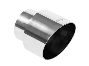 """ES#2618337 - 35127 - Universal Exhaust Tip - 4"""" - Priced Each - Double wall stainless steel. 2.25"""" inlet, 4"""" outlet. - Magnaflow - Audi Volkswagen"""