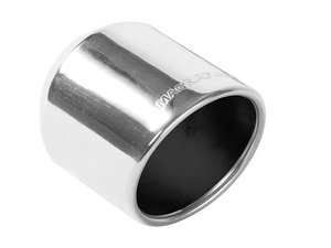"""ES#2616939 - 35136 - Universal Exhaust Tip - 4"""" - Priced Each - Double wall stainless steel. 2.25"""" inlet, Oval 3""""x3.75"""" outlet. - Magnaflow - Audi Volkswagen"""