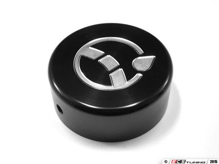 ES#2984683 - J004-BLK - Power Steering Reservoir Cap - Black Anodized - Billet aluminum power steering cap cover to dress up your green plastic one - JCAPS - Audi Volkswagen