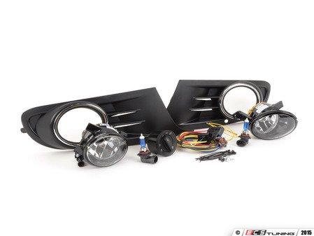 ES#2838993 - 1K0998022KT - Fog Light Conversion Kit - White Light - Complete kit to install fog lights on your MK6 Golf or Jetta SportWagen - Assembled By ECS - Volkswagen