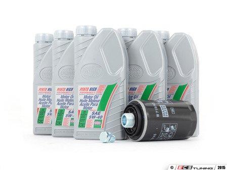 ES#2972989 - 06J115403QKT - Oil Service Kit - Includes Pentosin 5W-40 oil, filter, and OE style drain plug - Assembled By ECS - Audi