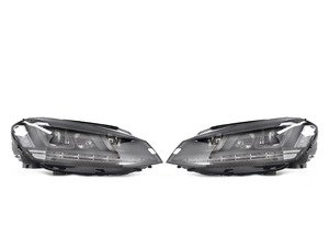 ES#2986379 - HVWG7HL-B - Projector Headlight Set - With Black Strip - Features dual-LED DRLs, turning light, and LED indicator - Helix - Volkswagen