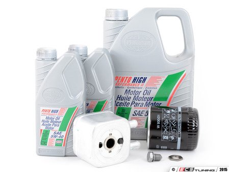 ES#2973048 - 028117021EKT - Oil Cooler Replacement Kit  - Includes the necessary components to replace your oil cooler and perform an engine oil service - Assembled By ECS - Audi