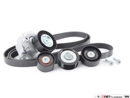ES#2792696 - 0019938396KT4 - Accessory Belt Kit - Level 2 - Includes accessory belt, belt tensioner assembly and idler pulleys - Assembled By ECS - Mercedes Benz