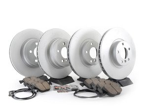 ES#2777478 - 34116793244KT6 - Front And Rear Brake Service Kit  - Featuring Meyle rotors and Akebono pads - Assembled By ECS - BMW