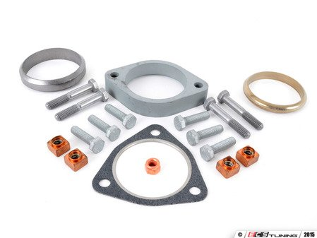 ES#2804327 - 18307830674KT2 - Exhaust Center Pipe Installation Kit - Rear - Includes all gaskets and hardware needed to install the rear portion of the center exhaust section - Assembled By ECS - BMW