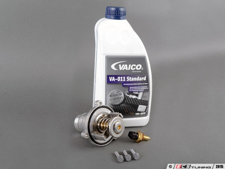 ES#2966600 - 11537586885KT - Thermostat Replacement kit - 90C  - Low-temp thermostat reduces stresses on engine components and improves performance - Assembled By ECS - BMW