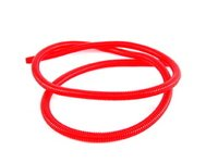 "ES#1899363 - 7700k153 - Split Wire Loom, 3/8"" Diameter, 5' Length - Red - Protect, organize, and dress up your engine bay with convoluted tubing! - ECS - Volkswagen"