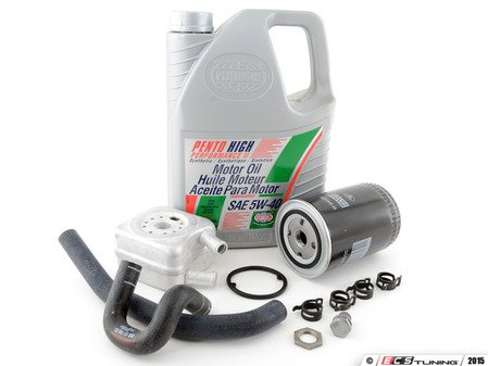 ES#2973079 - 028117021LKT6 - Oil Cooler Replacement Kit - Stage 2 - Includes the necessary components to replace your oil cooler and perform an engine oil service - Assembled By ECS - Audi