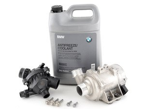 ES#2960237 - 11517586925KT8 -  Water Pump And Thermostat Kit - Includes everything you need to replace your water pump and thermostat. Featuring high-quality, German-made water pump and thermostat. - Assembled By ECS - BMW
