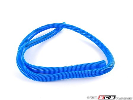 """ES#1899368 - 7700k241 - Split Wire Loom, 5/8"""" Diameter, 5' Length - Blue - Protect, organize, and dress up your engine bay with convoluted tubing! - ECS - Audi BMW Volkswagen Mercedes Benz MINI Porsche"""