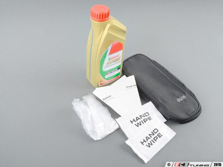 ES#2972688 - 83292158848KT2 - Castrol TWS 10W-60 Engine Oil & Oil Storage Bag Combo - One liter of Edge Professional TWS 10W-60 engine oil plus a convenient oil storage bag with gloves and funnel. Perfect to store in the trunk! - Assembled By ECS - BMW
