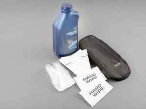 ES#2966770 - 83212365946KT - BMW 5W-30 Engine Oil & Oil Storage Bag Combo - One liter of Genuine BMW TwinPower Turbo 5W-30 engine oil plus a convenient oil storage bag with gloves and funnel. Perfect to store in the trunk! - Genuine BMW - BMW