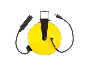 ES#2939429 - BAYSL800 - 30 Ft Retractable Metal Cord Reel w/3 Outlets-10amp - Hang this in your garage and always have a handy electrical outlet where you need it. - Bayco - Audi BMW Volkswagen Mercedes Benz MINI Porsche