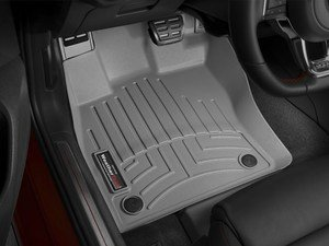 ES#3194910 - 464961KT - Front And Rear FloorLiner DigitalFit Kit - Gray - Laser measured for perfect fitment and ultimate protection against moisture and debris - WeatherTech - Audi