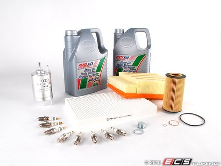 ES#251879 - B6B7S440K5-40 - 40k Service Kit - 5W-40 Synthetic Oil - Includes everything you need to complete the factory 40k service - Assembled By ECS - Audi