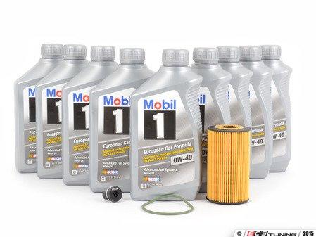 ES#2722953 - 99610722560KT2 - Oil Change Kit Non Turbo 996/986 - Featuring Genuine Porsche Mobile 1 (0w-40) and ECS Magnetic Drain Plug - Mobil1 - Porsche