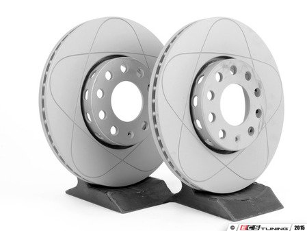 ES#2855122 - 8e0615301qkt7KT8 - Front Brake Rotors - Pair (288x25) - Restore the stopping power in your vehicle - ATE - Audi Volkswagen