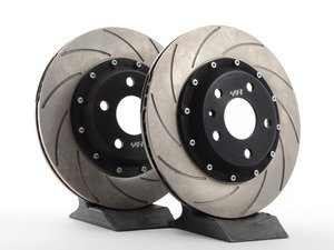 ES#2839145 - VWR66G6RR - Rear 2 piece Slotted Brake Rotors - pair (310x22) - Upgrade the performance, durability and appearance of your rear brake package. - Racingline - Audi Volkswagen