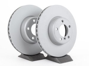 """ES#2771095 - 34116792223zKT - Front Brake Rotors - Pair  - Featuring Zimmerman's """"Z"""" Coat for corrosion resistance (340x30) - Zimmermann - BMW"""