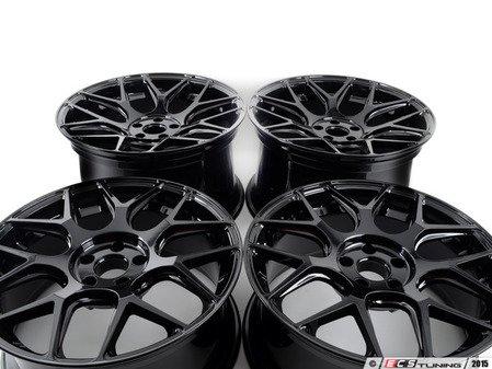 """ES#2959839 - M590-1kt - 19"""" M590 - Staggered Set Of Four  - 19""""x8.5"""" ET35 / 19""""x11"""" ET40 5x112 - Gloss Black - Avant Garde - Volkswagen"""