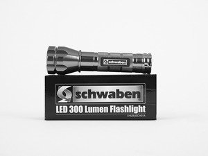 ES#2972293 - 015254SCH01A - Schwaben LED 300 Lumen Flashlight - Pierce the darkness with this super bright LED flashlight. This baby can throw a beam of light up to 136 yards. - Schwaben - Audi BMW Volkswagen Mercedes Benz MINI Porsche