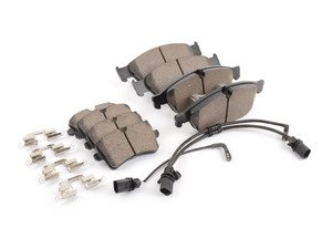 ES#2992552 - 4g0698151bKT - Front & Rear Euro Ceramic Brake Pad Kit - Ceramic composite developed to meet low dust & noise requirements, includes front and rear pads - Akebono - Audi