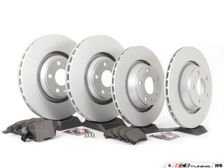 ES#2836933 - 8J0615301GKT4 - Front & Rear Brake Service Kit - Featuring Meyle rotors and Textar composite pads - Assembled By ECS - Audi