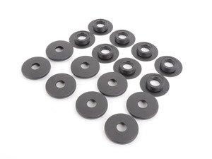 ES#1443707 - 955044800648B2 - Floor Mat Fasteners - Black - Set of 8 for front & rear mats - Genuine Porsche - Porsche