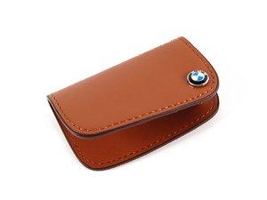 ES#256663 - 80232149934 - Nappa Leather Key Case - Brown - Covers the late model BMW key fob - Genuine BMW - BMW