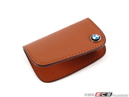ES#256663 - 80232149934 - Nappa Leather Key Case - Brown - Covers the late model BMW key fob - Genuine BMW - BMW