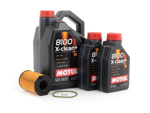 ES#2784433 - C7TDIOCKT1 - Oil Service Kit - Premium - Includes 7 liters of Motul 8100 X-Clean+ 504.00 / 507.00 / (5w-30), filter, and drain plug sealing washer - Assembled By ECS - Audi