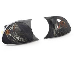 ES#2808222 - 4441507PXAES - Crystal Smoked Corner Assembly - Pair - Direct replacements for the stock amber corner lights - Depo - BMW