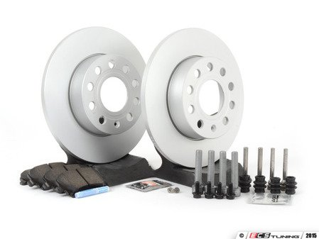 ES#257459 - 1k0698050 - Rear Brake Service Kit (260x12) - Featuring Meyle rotors and Vaico pads - Assembled By ECS - Volkswagen