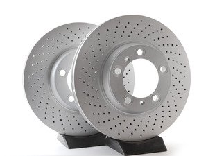 "ES#2986332 - 99635140904KT3 - Coated Front Brake Rotors - Pair 12.99"" (330mm) - Directional front axle fitment - Both left and right - ATE - Porsche"