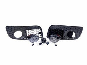 ES#252720 - ZZAOPNFGCNV - Projector Fog Light Conversion Kit - With Open Honeycomb Grilles - Convert your standard fogs to projector style, featuring genuine VW projectors fog lights with H11 bulbs. - Assembled By ECS - Volkswagen