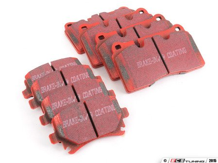 ES#2992560 - dp32070cKT - Front & Rear RedStuff Performance Brake Pad Kit - High performance street pad featuring Kevlar technology, includes front and rear pads - EBC - Audi