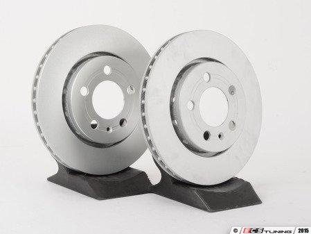 ES#2855180 - 8n0615601bbKT - Rear Brake Rotors - Pair (256x22) - Restore the stopping power in your vehicle - ATE - Audi Volkswagen