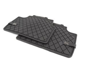 ES#2787514 - 51472358056 - Essentials Rear Carpet Factory Floor Mats Set Black - Priced As Set  - Replace or upgrade to factory MINI mats - Genuine MINI - MINI