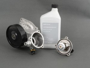 ES#2975838 - 11517548263KT1 - Water Pump And Thermostat Kit - Includes everything you need to replace your water pump and thermostat - Genuine BMW - BMW