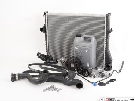 ES#2807622 - 11517527910KT13 - ECS Cooling System Refresh Kit - Level 3 - Ultimate cooling refresh kit - featuring a Geba water pump with metal impeller. Includes ECS billet aluminum water pump pulley and bleeder screw for a more reliable cooling system! - Assembled By ECS - BMW