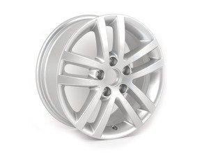 """ES#1172738 - 5K0601025E8Z8 - 16"""" Cleveland - Priced Each  - 16""""x6.5"""" ET50 5x112 - Diamond Silver - Genuine Volkswagen Audi - Volkswagen"""
