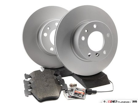 ES#2739120 - 40406125FBKT - Front Brake Service Kit - Featuring Meyle rotors and Vaico pads - Assembled By ECS - BMW