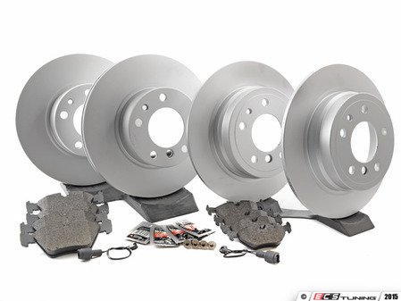 ES#2739123 - 34111160936O1KT - Front & Rear Brake Service Kit - Featuring Meyle rotors and Vaico pads - Assembled By ECS - BMW