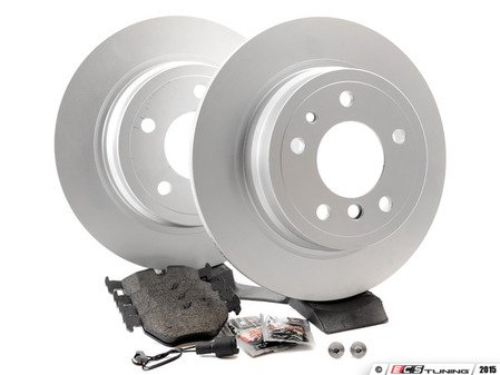 ES#2739122 - 40406159KT11 - Rear Brake Service Kit - Featuring Meyle rotors and Vaico pads - Assembled By ECS - BMW