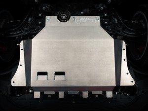 "ES#2986429 - 011768ecs01KT -  Aluminum Street Shield Skid Plate Kit - Protect your vehicle's fragile plastic oil pan and under carriage with this 3/16"" (4.76mm) thick aluminum skid plate - ECS - Audi Volkswagen"