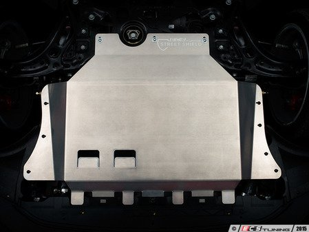 """ES#2986429 - 011768ecs01KT -  Aluminum Street Shield Skid Plate Kit - Protect your vehicle's fragile plastic oil pan and under carriage with this 3/16"""" (4.76mm) thick aluminum skid plate - ECS - Audi Volkswagen"""