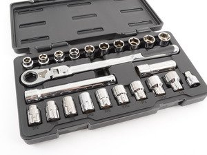 ES#2943742 - KDT893823 - GearWrench 23 Piece Thru-hole Ratcheting wrench Set - Thru hole socket set is great for struts and other applications requiring open center. - Gear Wrench - Audi BMW Volkswagen Mercedes Benz MINI Porsche